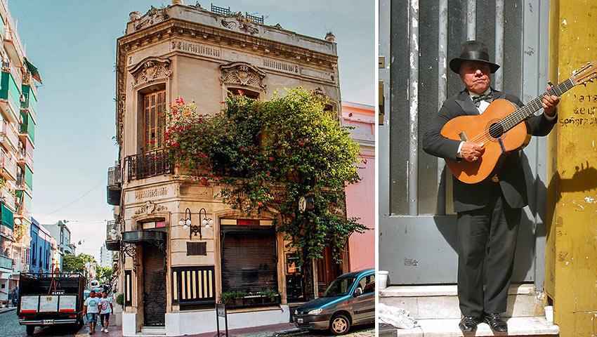 San Telmo barrio vista & musician