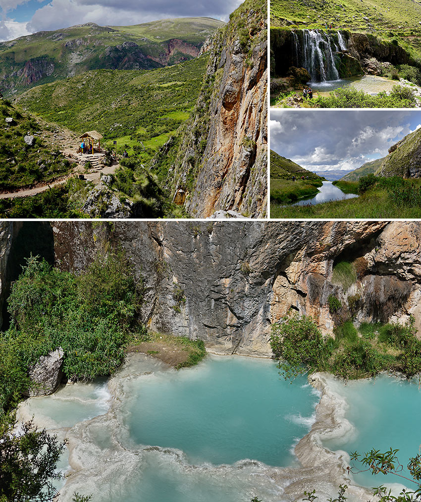 the Aguas Turquesas de Millpu: naturally-forming pools outside Ayacucho