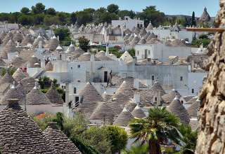the landscape of Alberobello, southeastern Puglia region, Italy