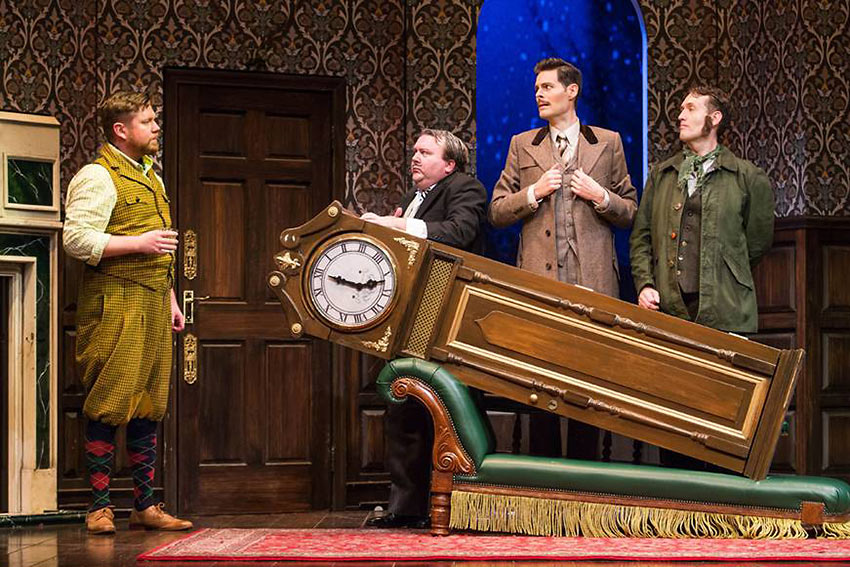 Peyton Crim, Scott Cote, Evan Alexander Smith, and Ned Noyes in 'The Play That Goes Wrong'