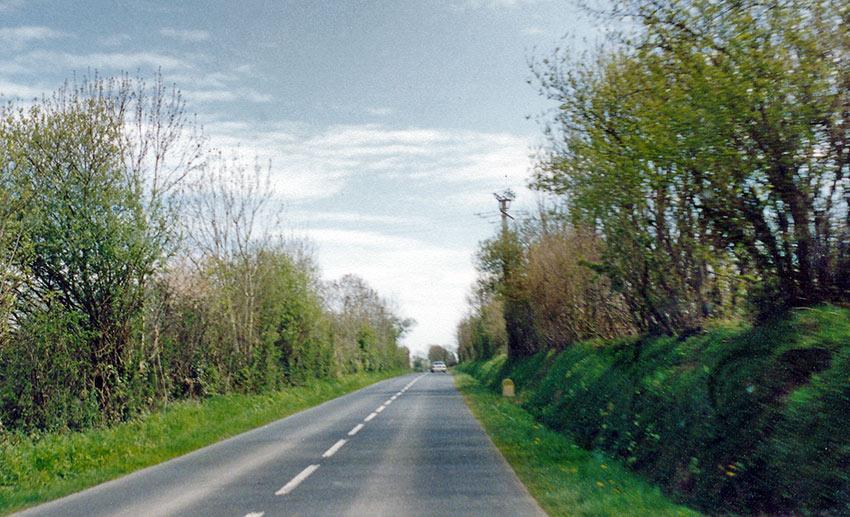 bocage along a road