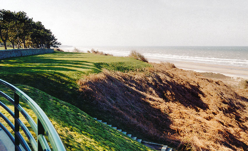Omaha Beach in Normandy, France