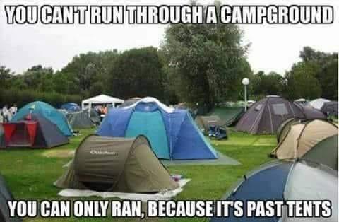 Don's Puns: Past Tents
