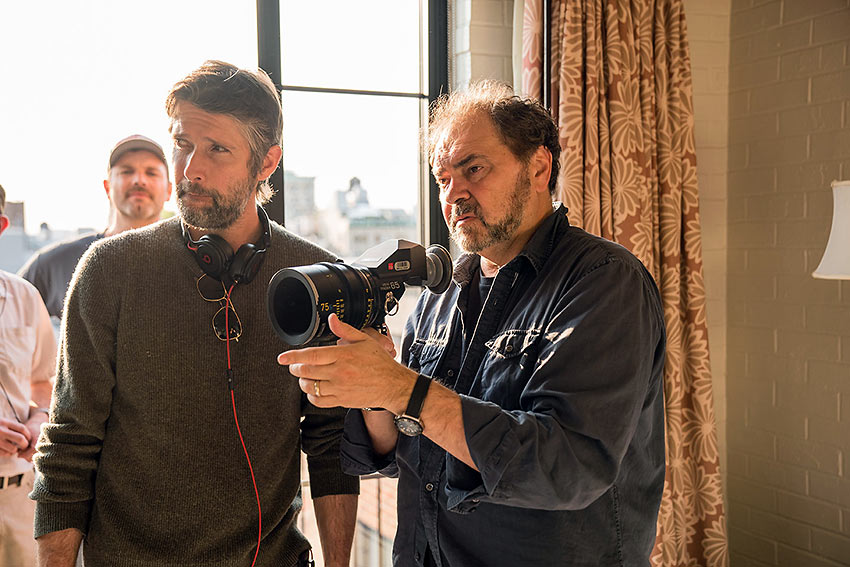 Director Bart Freundlich on set with Director of Photography Julio Macat