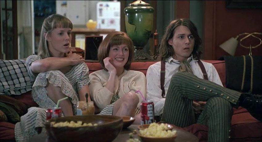 Mary Stuart Masterson, Julianne Moore, & Johnny Depp in 'Benny & Joon'
