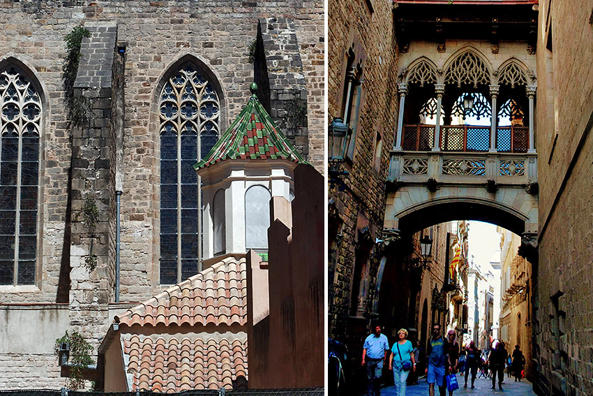 medieval structures in the Barcelona Gothic Quarter