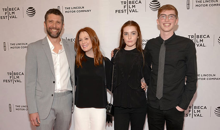 Julianne Moore and her family