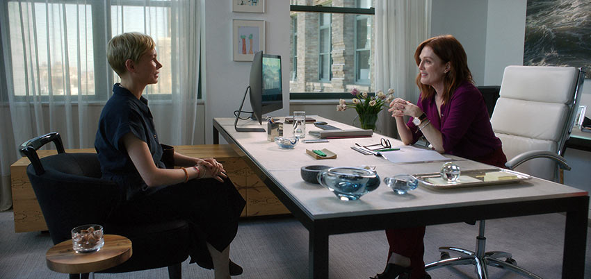Michelle Williams as Isabel and Julianne Moore as Theresa Young in 'After the Wedding'