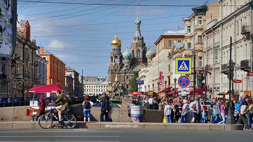 Nevsky Prospect street scene