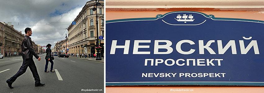 Nevsky Prospekt high street in St. Petersburg