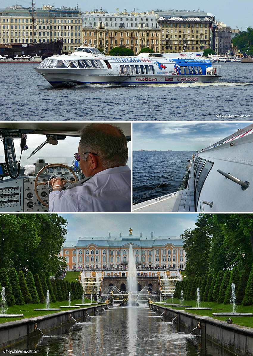 hydrofoil ride across the Gulf of Finland to Peterhof