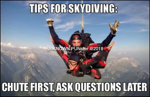 Don's Puns: Skydiving