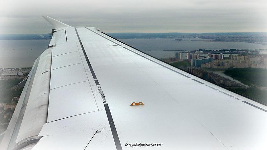 flying to St. Petersburg
