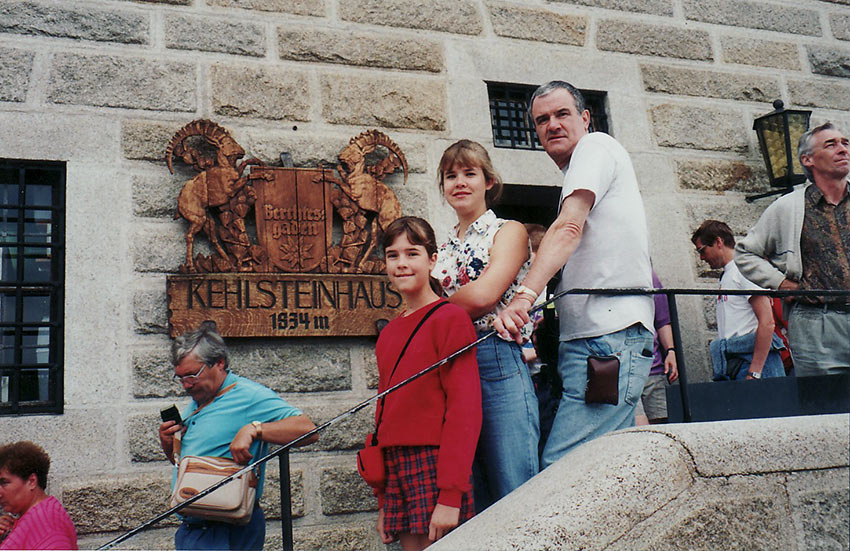 Clayton family at the top of Kehlsteinhaus or Eagle's Nest