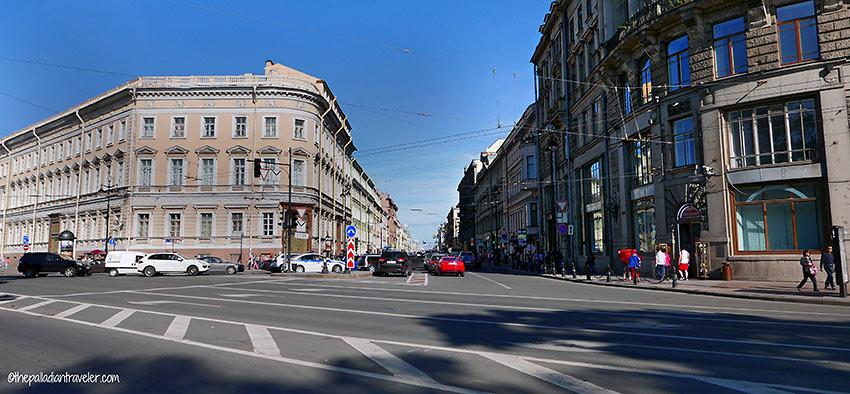 Liteyny Prospect street scene, St. Petersburg