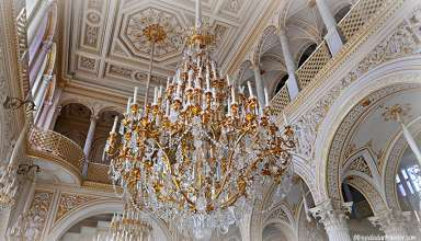 chandelier at the State Hermitage Museum, St. Petersburg