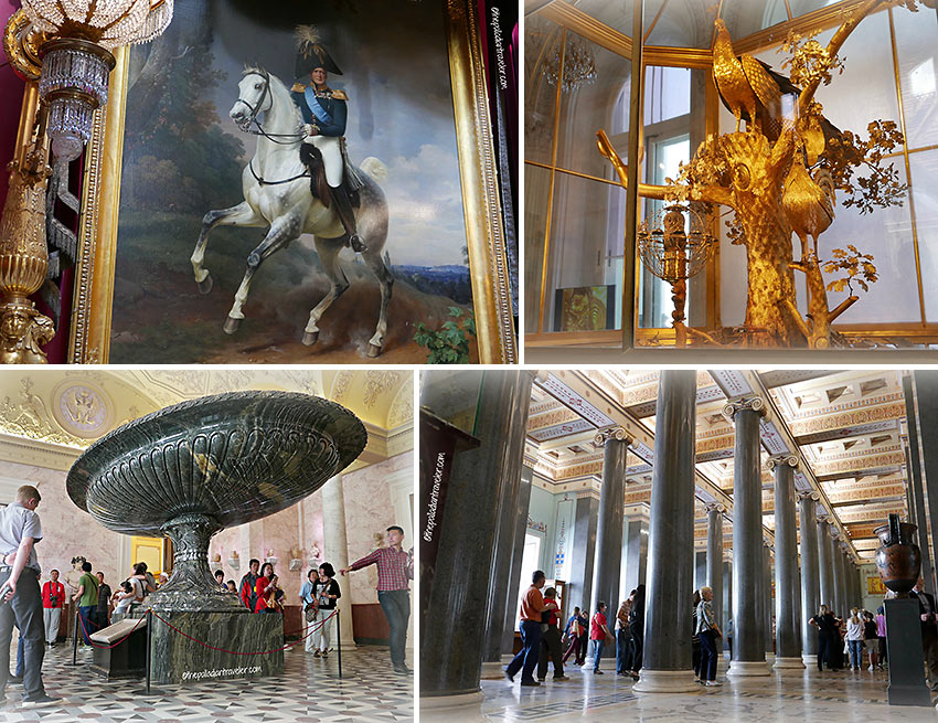 artifacts and art works at the Hermitage