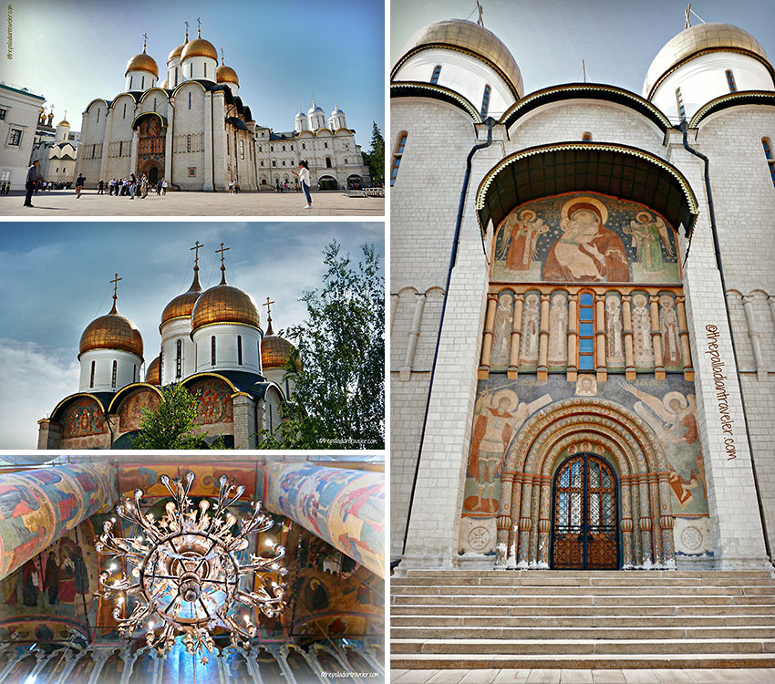 Cathedral of the Dormition, Cathedral Square, with its 5 domes, frescoes and iconostases