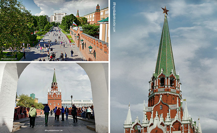 Trinity Tower and Alexander Park, the Kremlin,