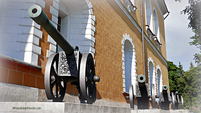 1812 French artillery pieces lined up outside the Arsenal, the Kremlin