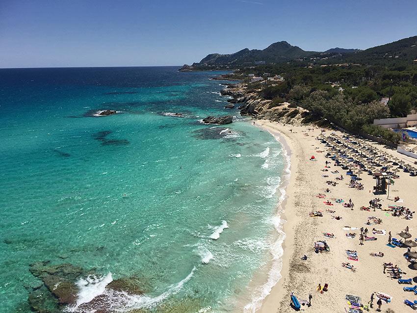 a beach at Mallorca, Spain