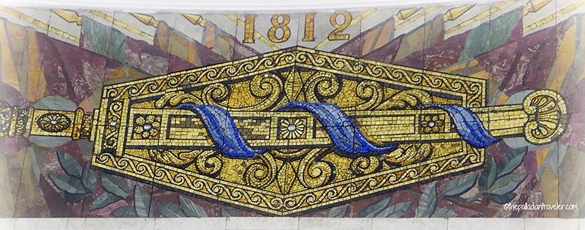 mosaic at the Moscow Metro subway