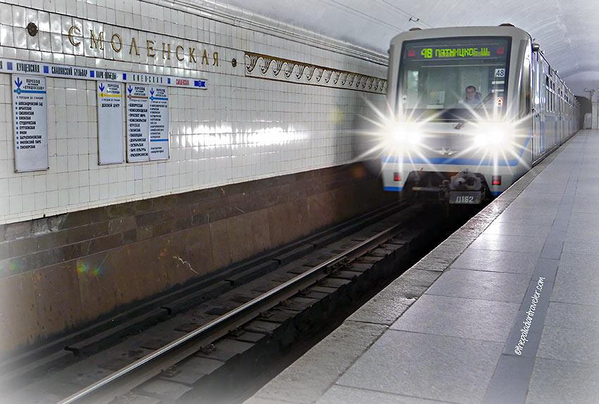 Moscow Metro subway train