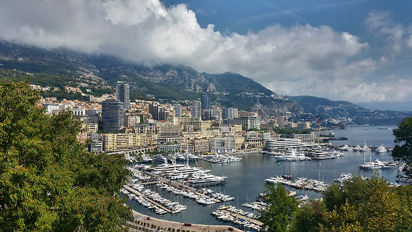 view of Monaco and its harbor