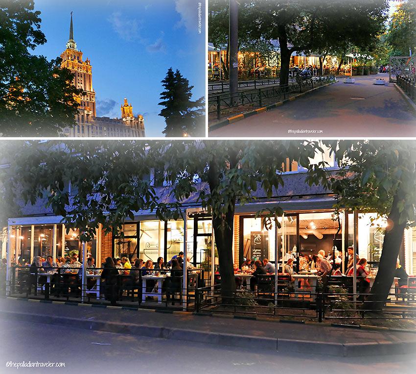 the Odessa-Mama restaurant, 7 Ukrainskiy Blvd., Moscow