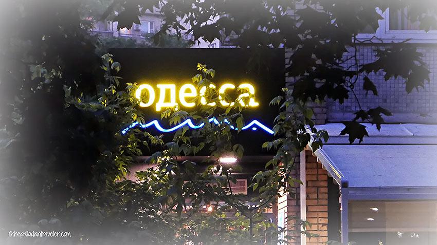 Odessa Mama restaurant sign
