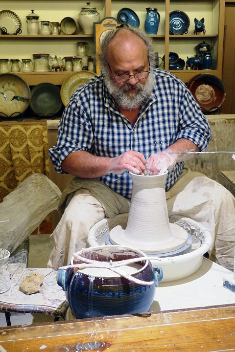 pottery workshop at Silver Dollar City, Branson