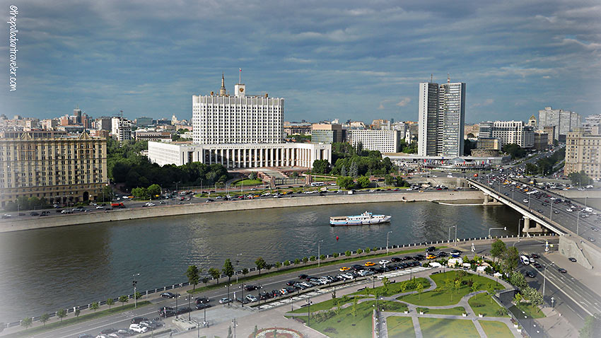 view of the Moscow River from the Radisson Royal Hotel