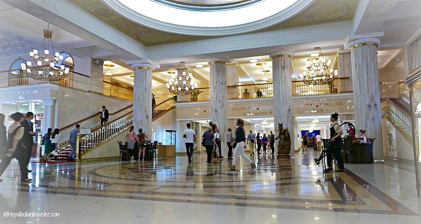 the Radisson Royal Hotel lobby