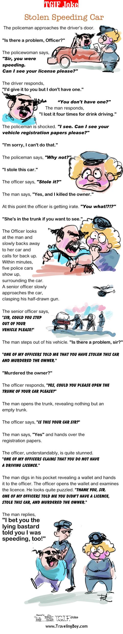 TGIF Joke of the Week: Stolen Speeding Car