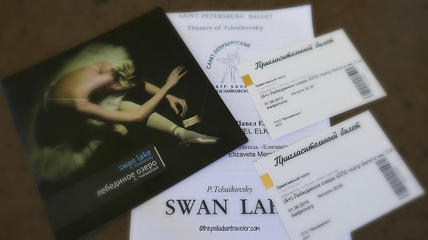 complimentary tickets to Swan Lake at the Hermitage Theatre