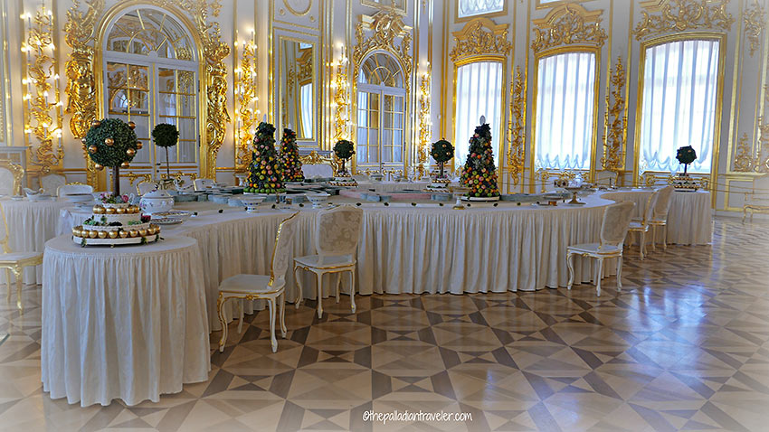 dining room, Catherine Palace