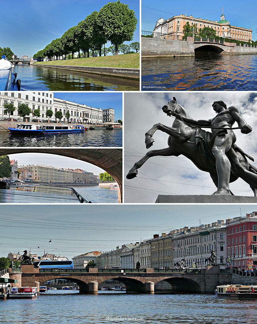 passing by the Summer Gardens and the Nevsky Prospect