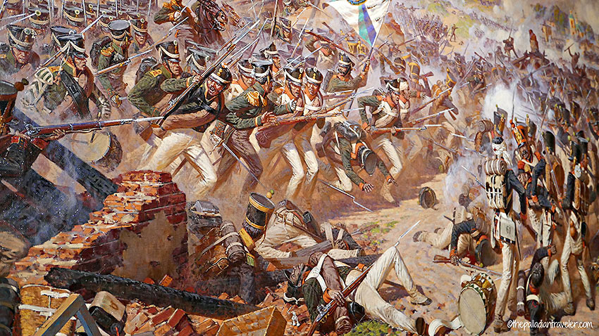 detail from Franz Roubaud's painting at the Battle of Borodino Panorama Musem