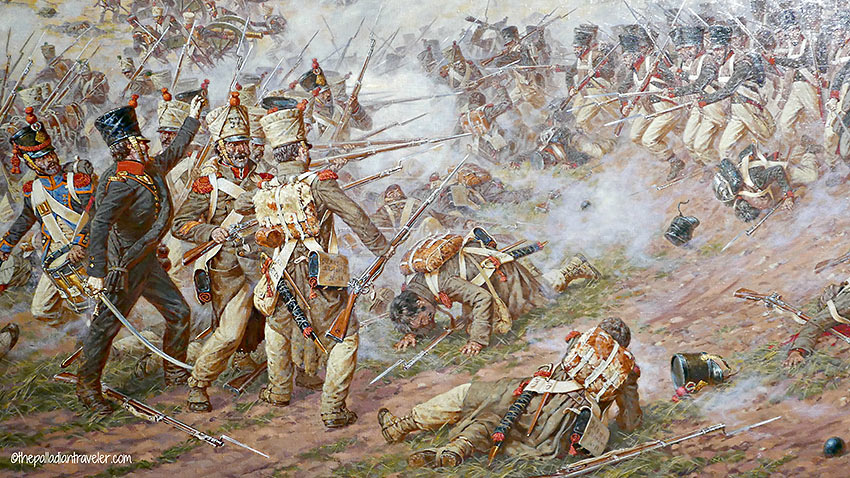 infantry battle scene from the Battle of Borodino painting