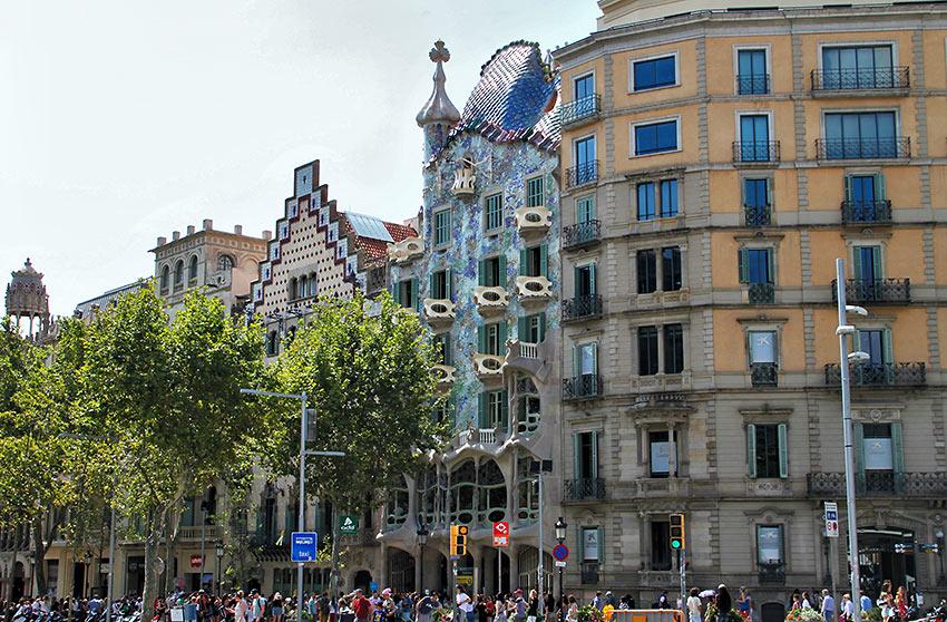 Antoni Gaudí's Casa Batlló, Barcelona, Spain