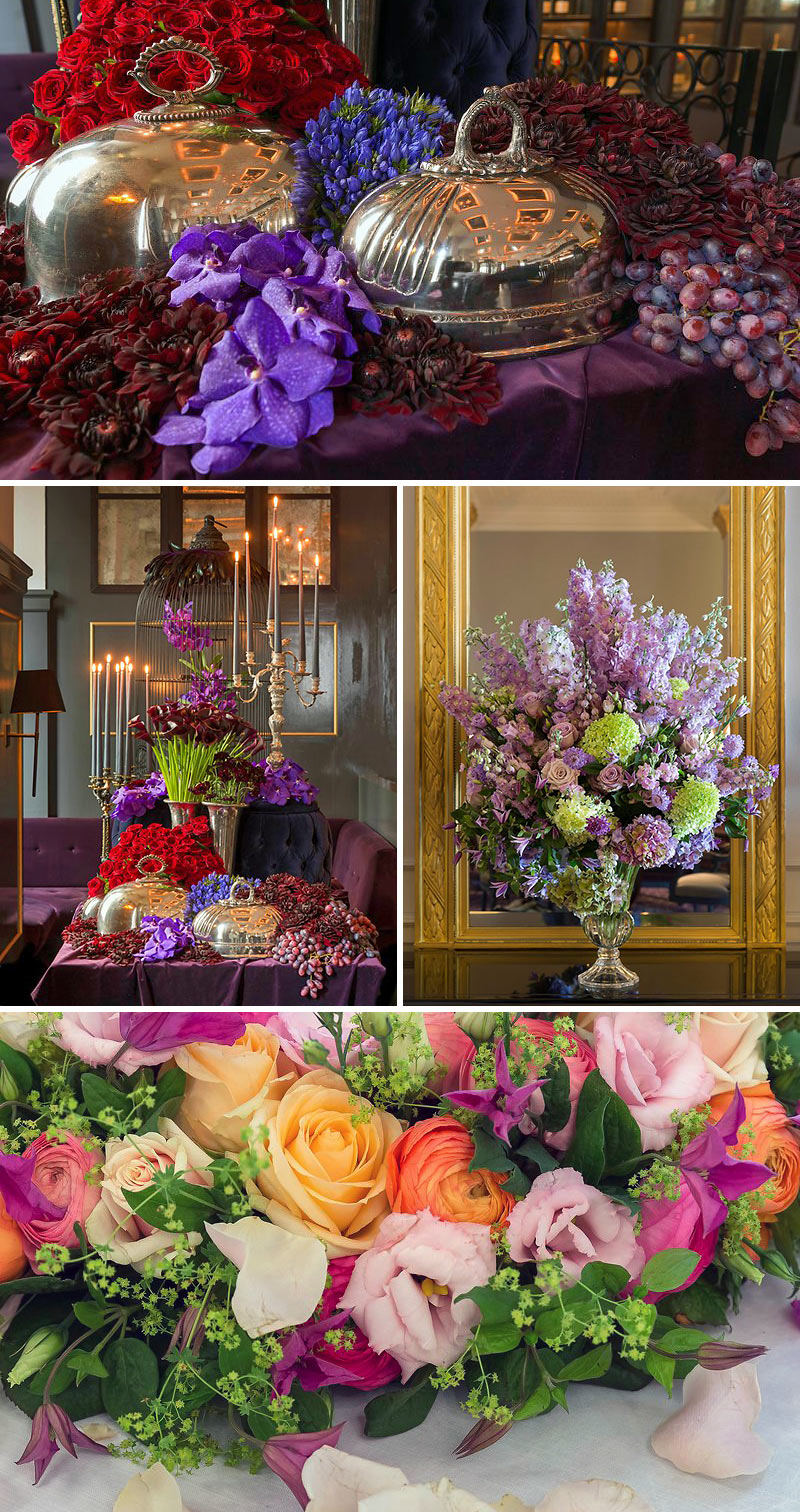 flowers at the Hotel d'Angleterre