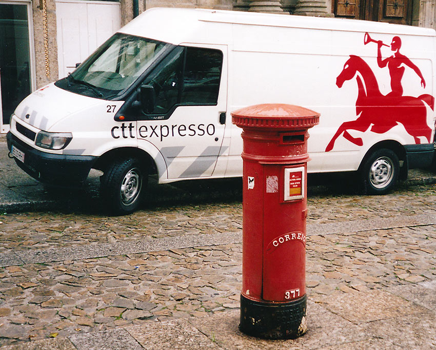 British type mailbox in a Galician town
