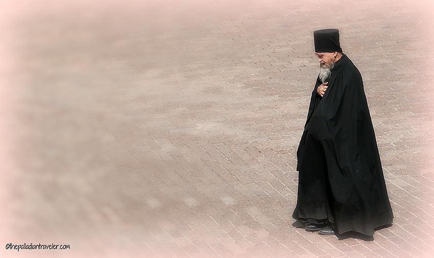 Orthodox monk at the Trinity Lavra of Saint Sergius