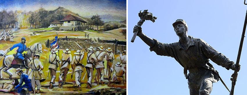 paintings and statues of Juan Santamaria, Costa Rica's national hero