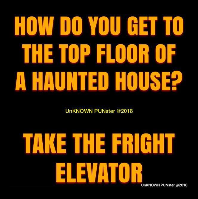 Don's Puns: Fright Elevator