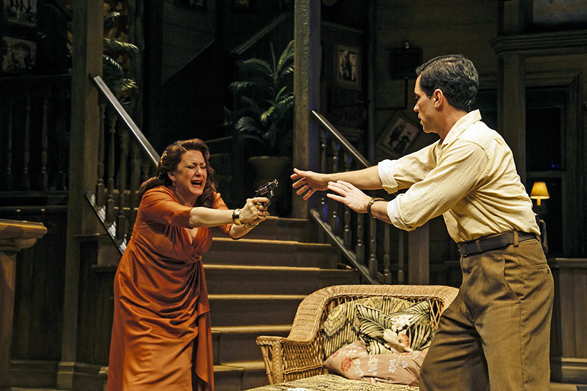 Joely Fisher and Danny Pino in a scene from 'Key Largo'