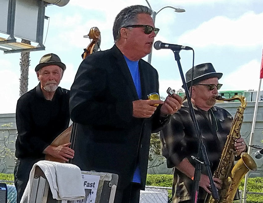 Jonny Viau with the Chris Fast Band at Gator By the Bay