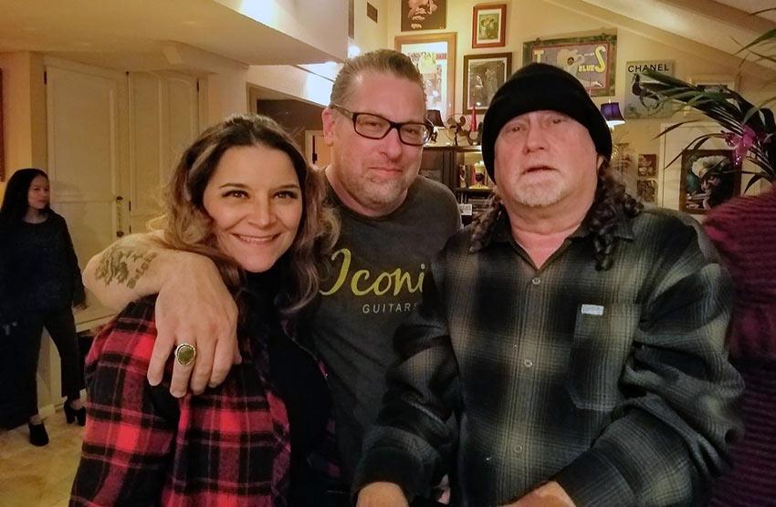 Jonny with friends, Roxanne and Scottie Blinn
