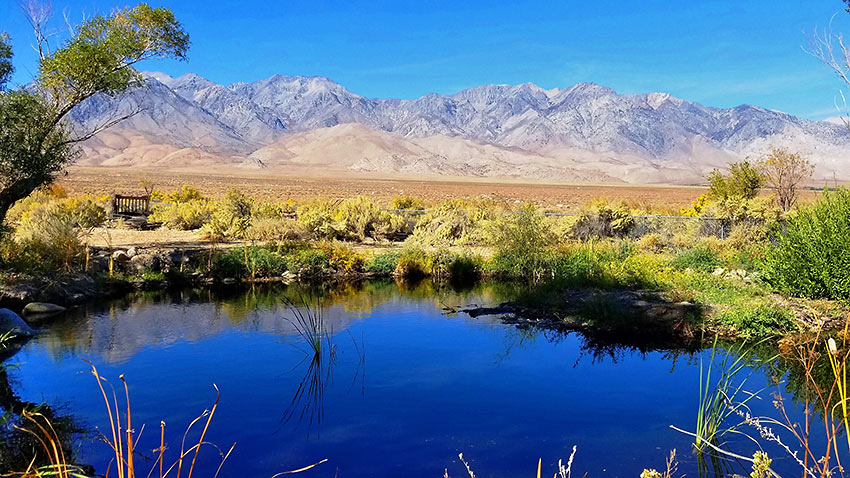 view of mountains from Owens Valley