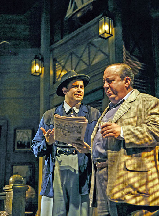 Stephen Borrello as Toots with Louis Mustillo as Curly